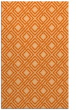 rug #174669 |  red-orange check rug