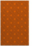 rug #174673 |  red-orange check rug