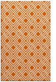 rug #174677 |  red-orange geometry rug