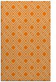 rug #174725 |  orange check rug