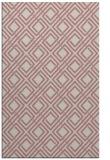rug #174749 |  pink check rug