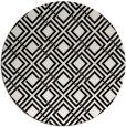 rug #174765 | round white check rug