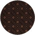 rug #174777 | round brown check rug