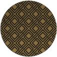 rug #174781 | round brown check rug