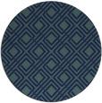rug #174793 | round blue check rug