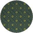 rug #174797 | round blue check rug