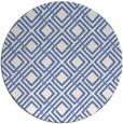 rug #174801 | round blue retro rug