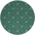 rug #174817 | round blue-green check rug