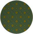 rug #174821 | round blue-green check rug