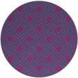rug #174825 | round blue-green check rug