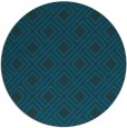 rug #174837 | round blue-green check rug
