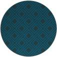 rug #174841 | round blue check rug