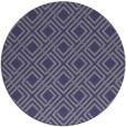 rug #174849   round blue-violet retro rug