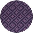 rug #174857 | round purple check rug