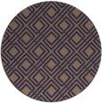 rug #174869 | round beige check rug