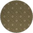rug #174881 | round brown check rug