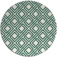rug #174893 | round green check rug