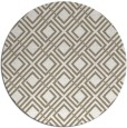 rug #174901 | round white check rug