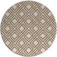 rug #174913   round beige check rug