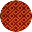 rug #174949 | round red-orange check rug
