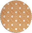 rug #174953 | round orange check rug