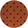 rug #174961 | round red-orange check rug