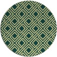 rug #174965 | round blue-green geometry rug