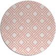 rug #174981 | round white check rug
