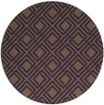 rug #174993 | round purple check rug