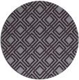 rug #174997 | round purple check rug