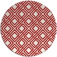 rug #175001 | round red check rug