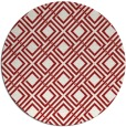 rug #175009 | round red check rug