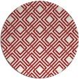 rug #175009 | round red retro rug