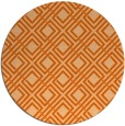 rug #175021 | round red-orange check rug