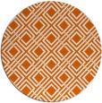 rug #175029 | round red-orange check rug