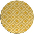 rug #175049 | round yellow check rug