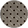 rug #175057 | round brown check rug