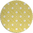 rug #175061 | round yellow check rug