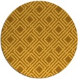 rug #175065 | round yellow check rug
