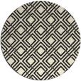 rug #175069   round black retro rug
