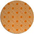 rug #175077 | round orange check rug