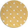 rug #175097 | round light-orange check rug