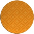 rug #175105 | round light-orange check rug
