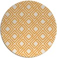 rug #175109 | round light-orange check rug