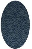 rug #175849 | oval blue rug