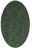 rug #175853   oval green animal rug