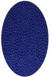 rug #175921 | oval blue-violet animal rug