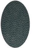 rug #175945   oval blue-green natural rug