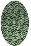 rug #176021 | oval yellow rug