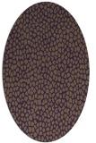 rug #176049 | oval purple animal rug